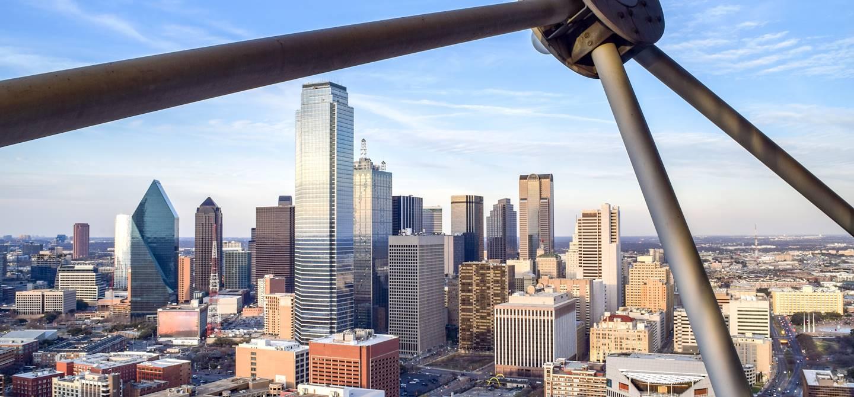Vue générale depuis la Reunion Tower GeO-Deck - Dallas - Texas - États-Unis
