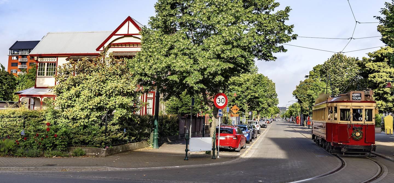 Tramway à Christchurch - Région de Canterbury - Nouvelle-Zélande