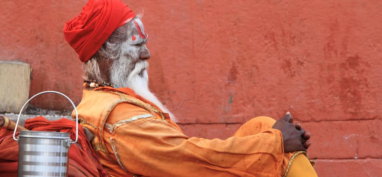 Portrait d'un homme Sadhu - Inde