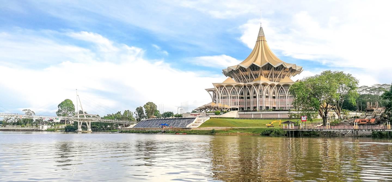 Bâtiment de l'assemblée législative - Kuching - Sarawak - Malaisie