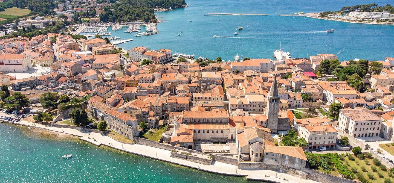Vue aérienne de Porec - Istrie - Croatie