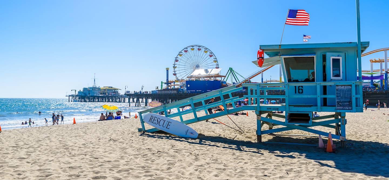 Plage de Santa Monica - Los Angeles - Californie - Etats Unis