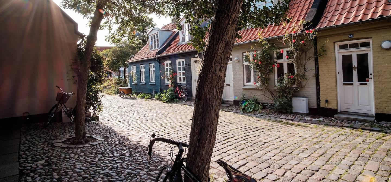 Maisons colorées et typiques de la rue Mollestien - Aarhus - Danemark