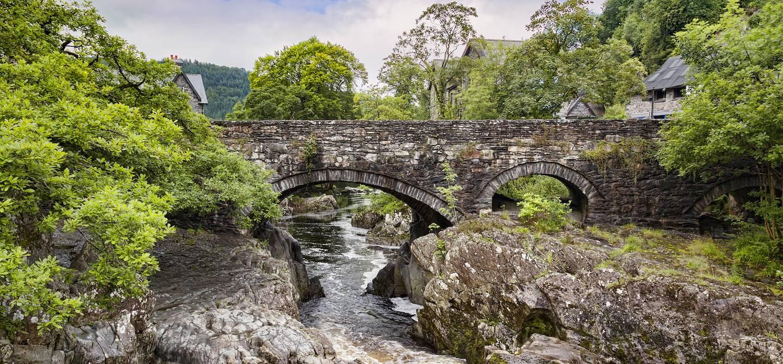 Pont y Pair Bridge sur la rivière Llugwy - Betws-y-Coed - Pays de Galles