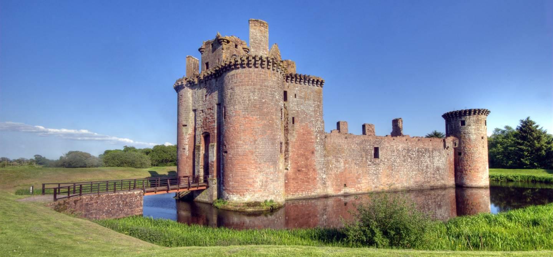 Château de Caerlaverock - Région de Galloway - Écosse - Royaume-Uni