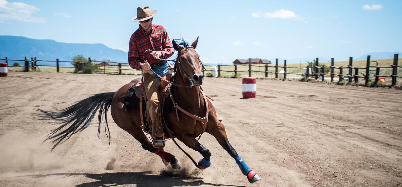Course d'obstacle et rodéo - Etat du Wyoming - Etats-Unis