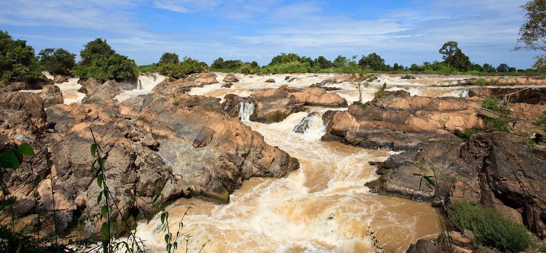 Les chutes de Li Phi - Île de Khone - Laos