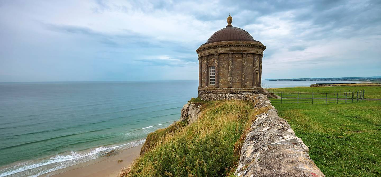 Temple de Mussenden sur la falaise -  Irlande du Nord - Royaume-Uni