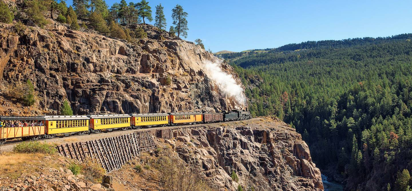 À bord du Durango Silverton Train - Colorado - Etats-Unis