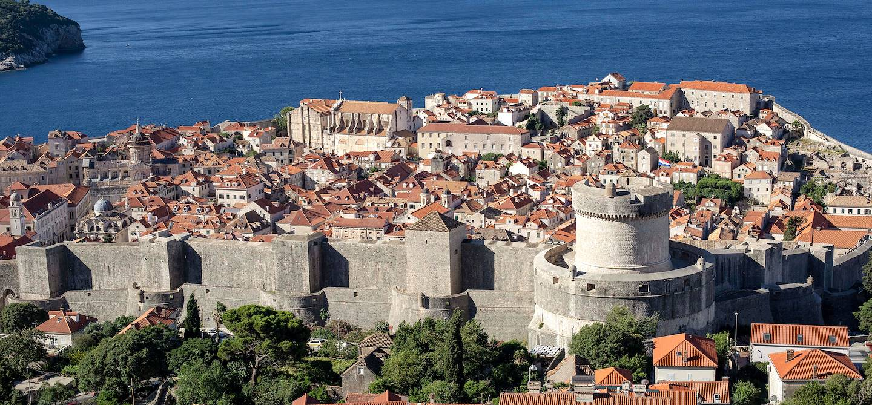 Vue générale de la vieille ville de Dubrovnik - Croatie