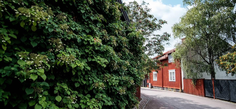 Maison en bois rouge de Falun - Comté de Dalécarlie - Suède