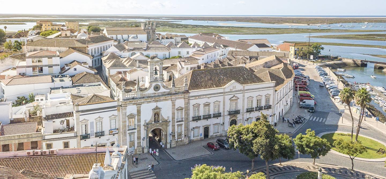 Centre-ville de Faro et lagune de la Ria Formosa - Algarve - Portugal