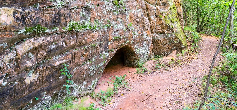 Grotte de Gutmanis - Parc national de la Gauja - Sigulda - Lettonie