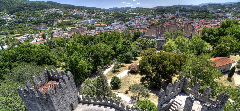 Vue du château de Guimarães - Portugal