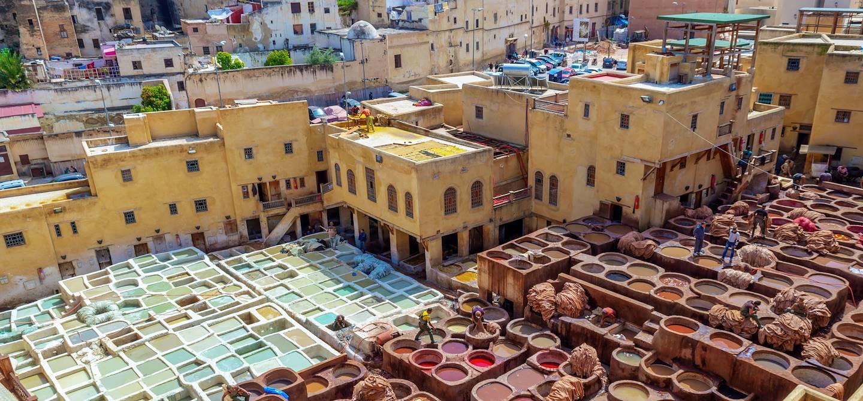 Quartier des tanneurs - Fes - Maroc
