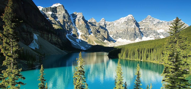 Le lac Moraine - Parc national de Banff - Alberta - Canada
