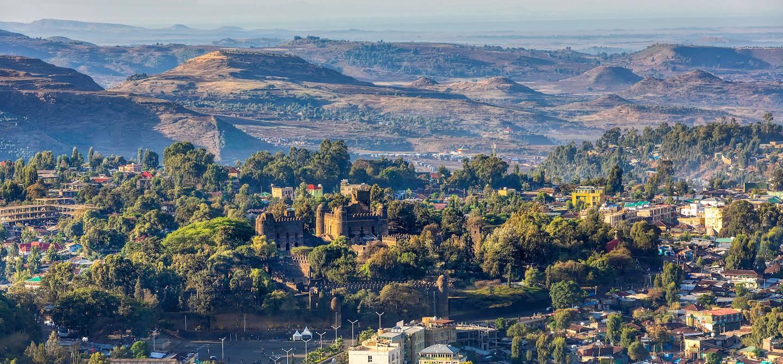 Panorama sur la ville de Gondar - Ethiopie