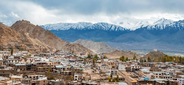 Panorama sur Leh - Ladakh - État du Jammu-et-Cachemire - Inde