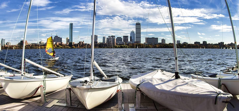 Rivière Charles et Boston - Massachussetts - Etats-Unis