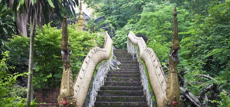 Escaliers du mont Phu Si - Luang Prabang - Laos