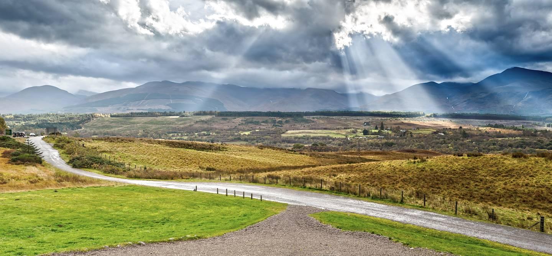 Sur une route des Highlands - Ecosse