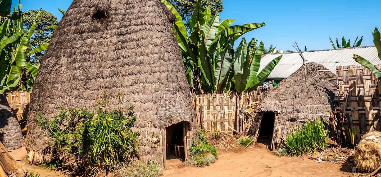 Habitations de la tribu Dorzé - Ethiopie