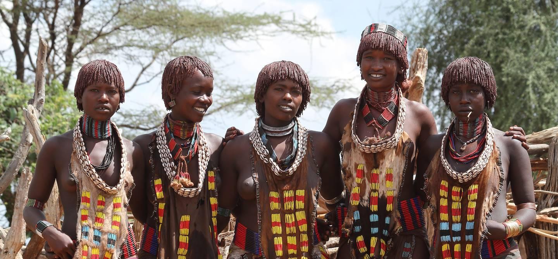 Femmes d'un village Hamer -  Vallée de l'Omo - Ethiopie