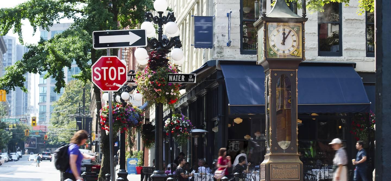 L'horloge à vapeur Steam Clock à Gastown - Vancouver - Canada