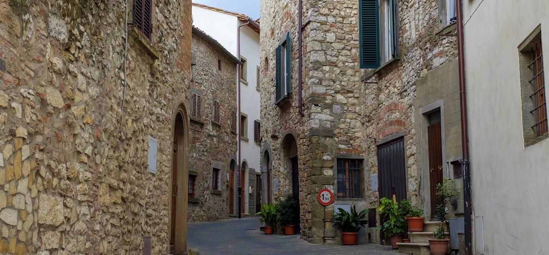 Dans les rues de Radda in Chianti - Toscane - Italie