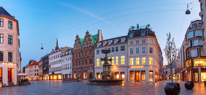 Rue piétonne de Stroget - Copenhague - Danemark