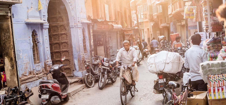 Coucher de soleil dans les rues de Jodhpur - Rajasthan - Inde