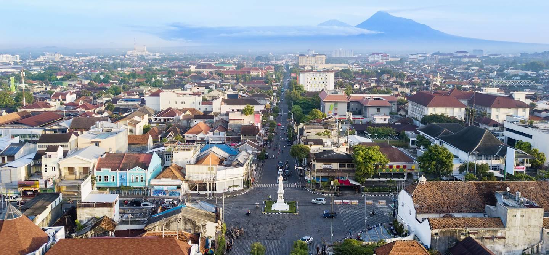 Panorama sur Yogyakarta - Ile de Java - Indonésie
