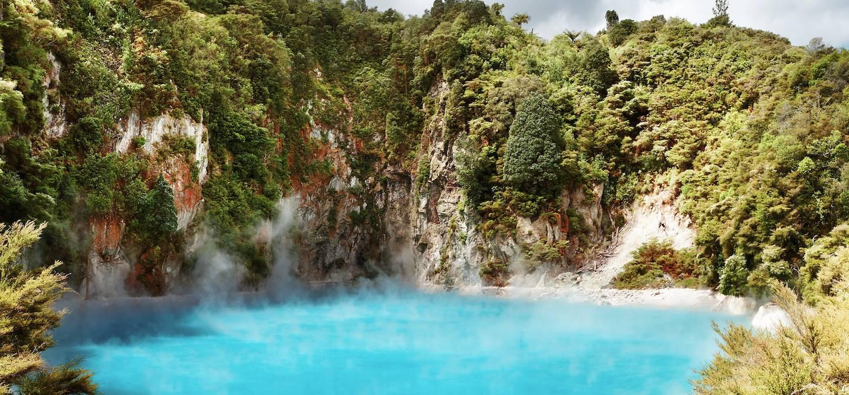 Site géothermique de Whirinaki - Ile du Nord - Bay of Plenty - Nouvelle-Zélande