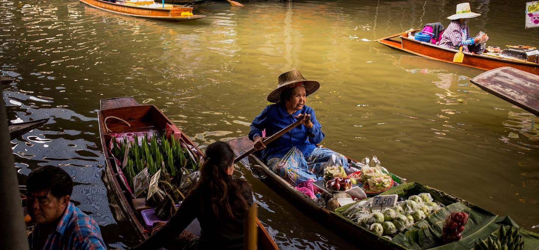 Le marché flottant de Damnoen Saduak - Bangkok - Thaïlande
