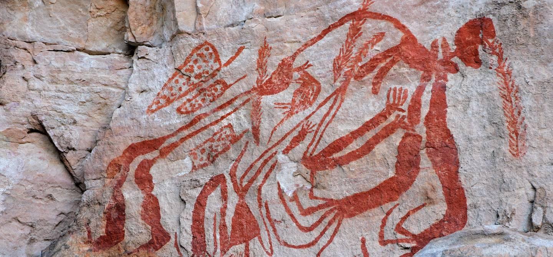 Peinture rupestre aborigène à Ubirr - Kakadu National Park - Australie