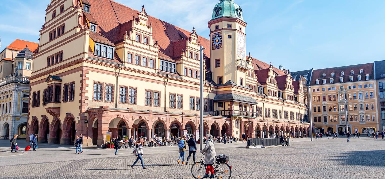 L'Hôtel de ville et la place du marché - Leipzig - Saxe - Allemagne