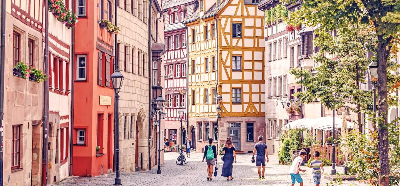 La vieille ville et ses maisons à colombages - Nuremberg - Allemagne
