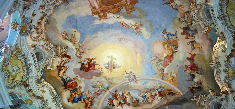 Plafond de l'église de Wies - Allemagne