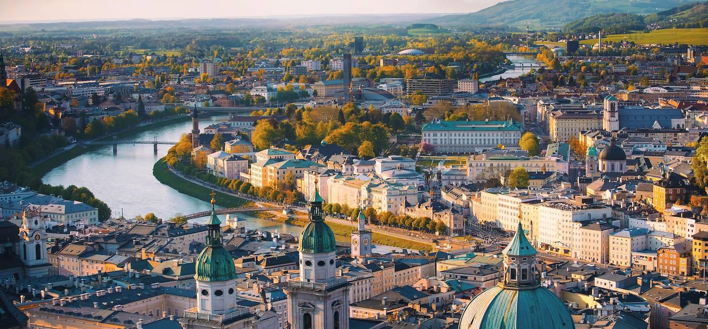 Panorama sur la ville de Salzbourg - Autriche