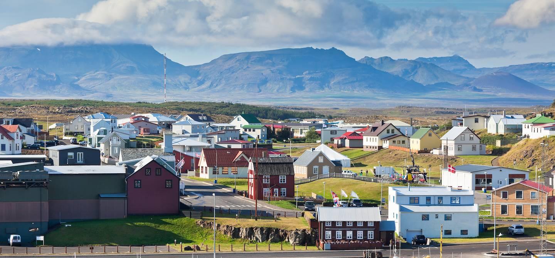 Vue aérienne de Stykkisholmur - Islande