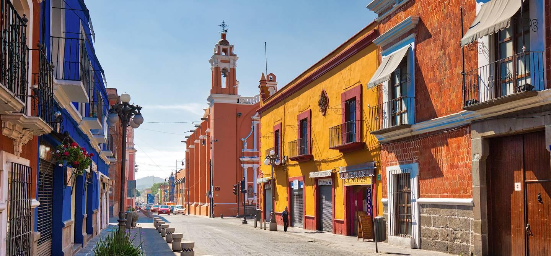 Dans les rues du centre historique de Puebla - Mexique