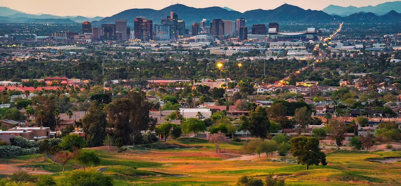Coucher de soleil sur Phoenix - Arizona - Etats-Unis