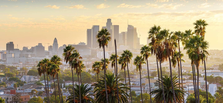 Coucher de soleil sur Los Angeles - Californie - Etats-Unis