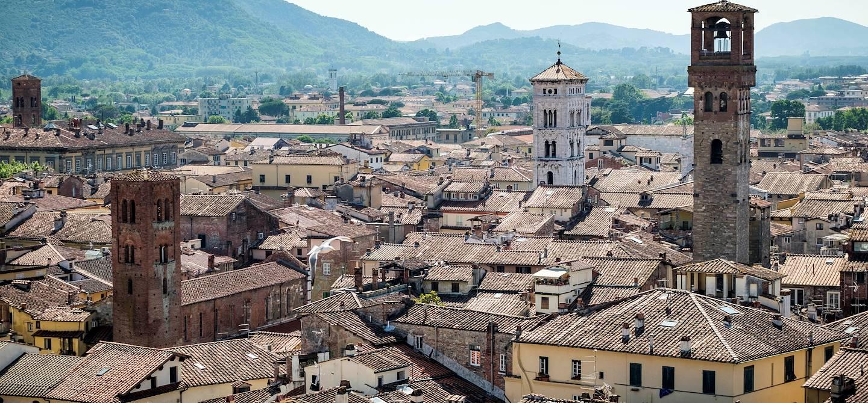 Vue sur Lucca depuis la Tour Guinigi - Toscane - Italie