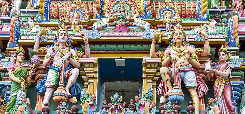 Détail du temple de Kapalishwara dédié à Shiva - Chennai - État du Tamil Nadu - Inde