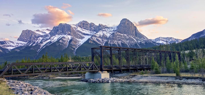 Pont au dessus de la rivière Bow - Canmore - Canada