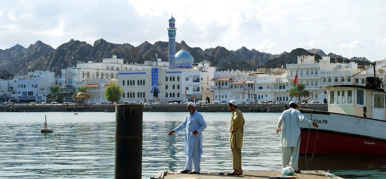 Dans le port de Mascate - Oman