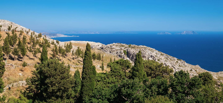 Vue depuis le monastère de Preveli - Crète - Grèce