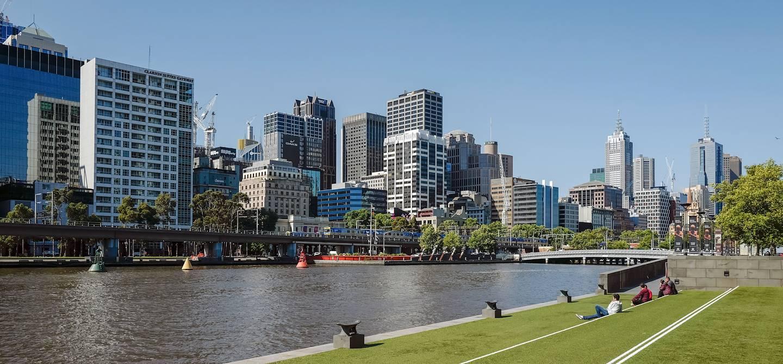 Sur les rives du fleuve Yarra - Melbourne - Australie