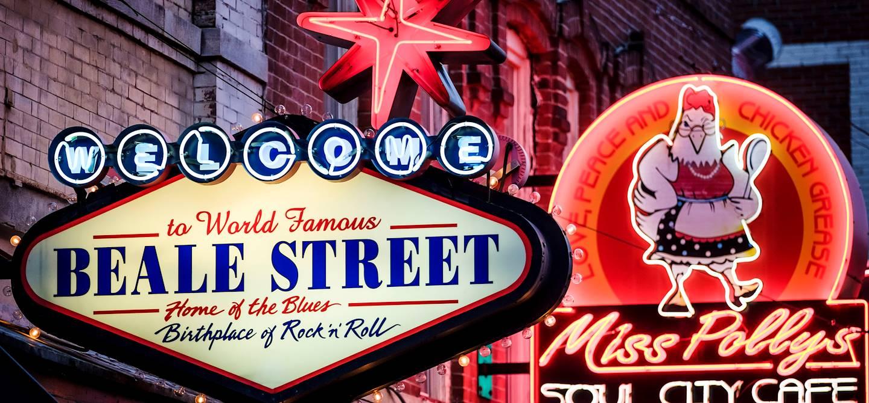 Enseignes lumineuses des bars et clubs de Memphis - Tennessee - Etats Unis